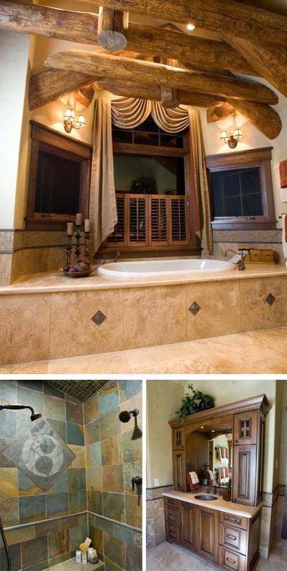 дизайн ванных комнат под старину