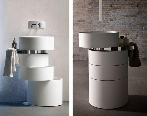 варианты монтажа раковины в ванной комнате