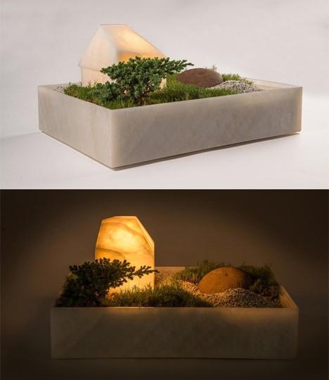 дизайнерский светильник в виде восточного ландшафта