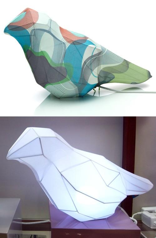 светильники в форме воробья
