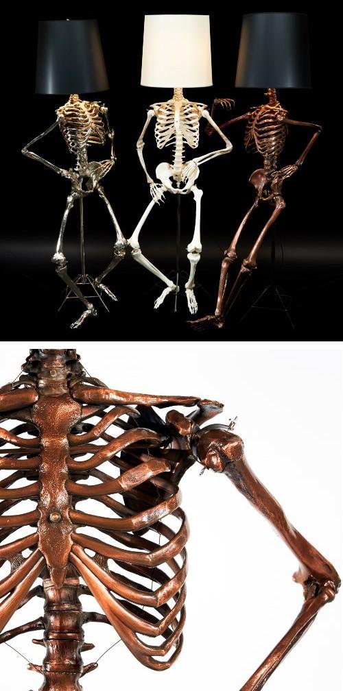 торшеры в форме скелетов