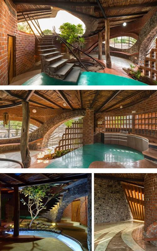 дизайн частного кирпичного дома