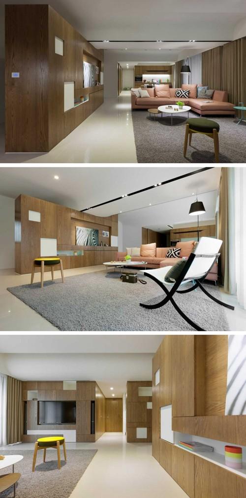 современная квартира открытой планировки