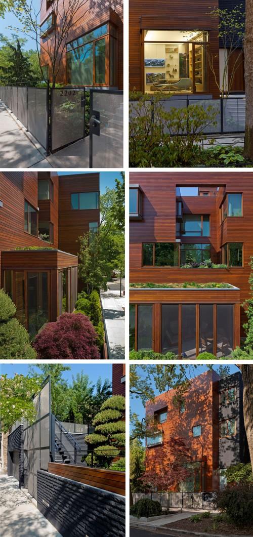 экстерьер трехэтажного частного дома