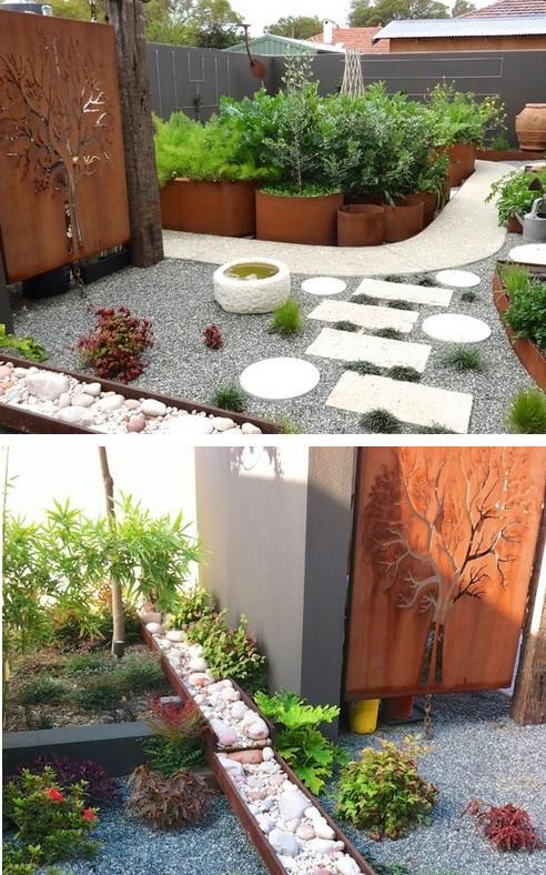 садовая ширма с лазерной резкой