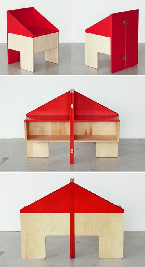 конструкция складного игрового домика