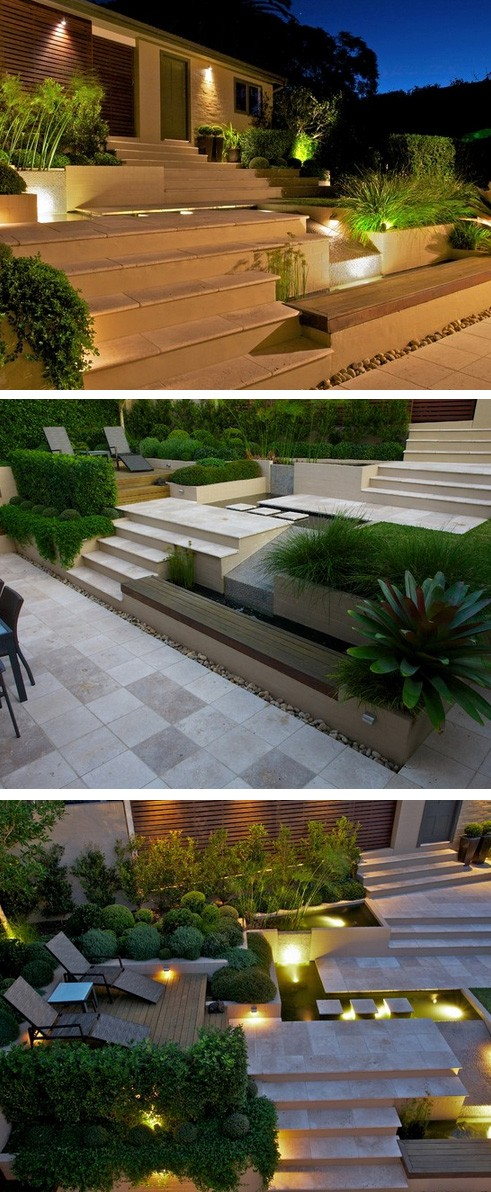 ландшафтный дизайн мощеного двора