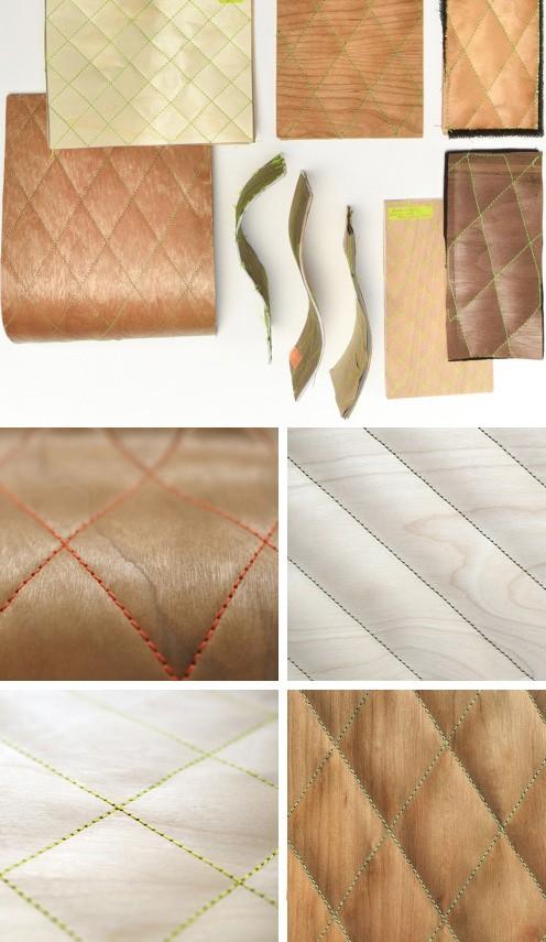 гибкий стеганый материал Честер из натуральной древесины