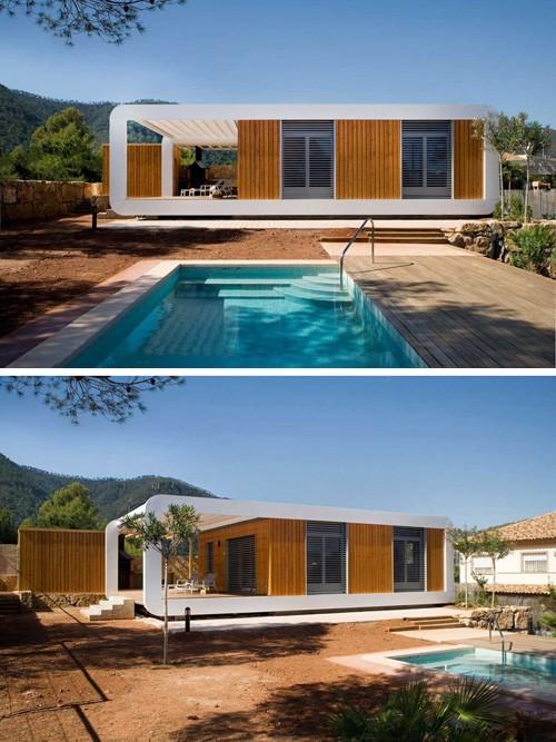 модульный дом с террасой