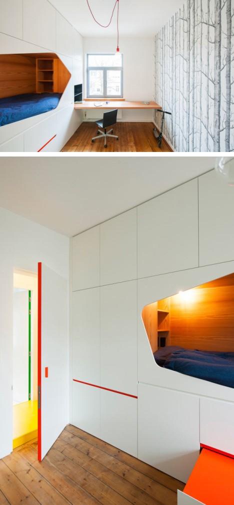 многофункциональная встроенная мебель для спальни