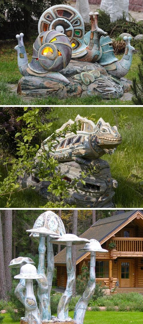 ландшафтная керамическая скульптура