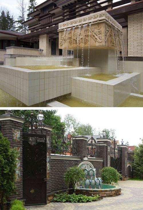 декоративные керамические фонтаны