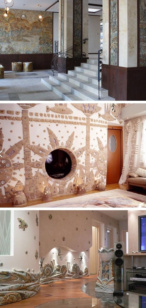 керамический декор стен