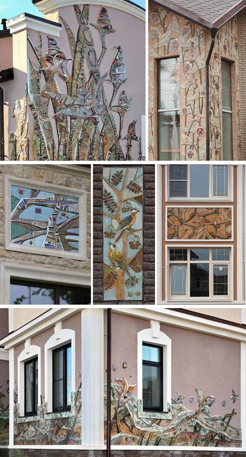 фасадный декор из керамики