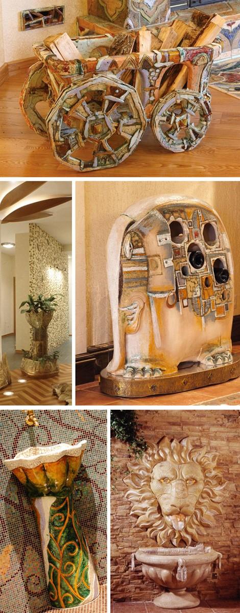 функциональные керамические изделия в интерьере