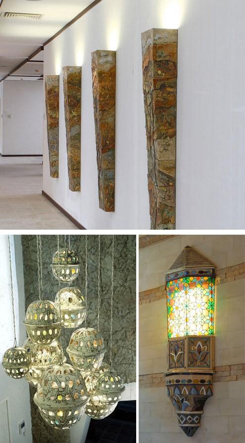 авторские керамические светильники