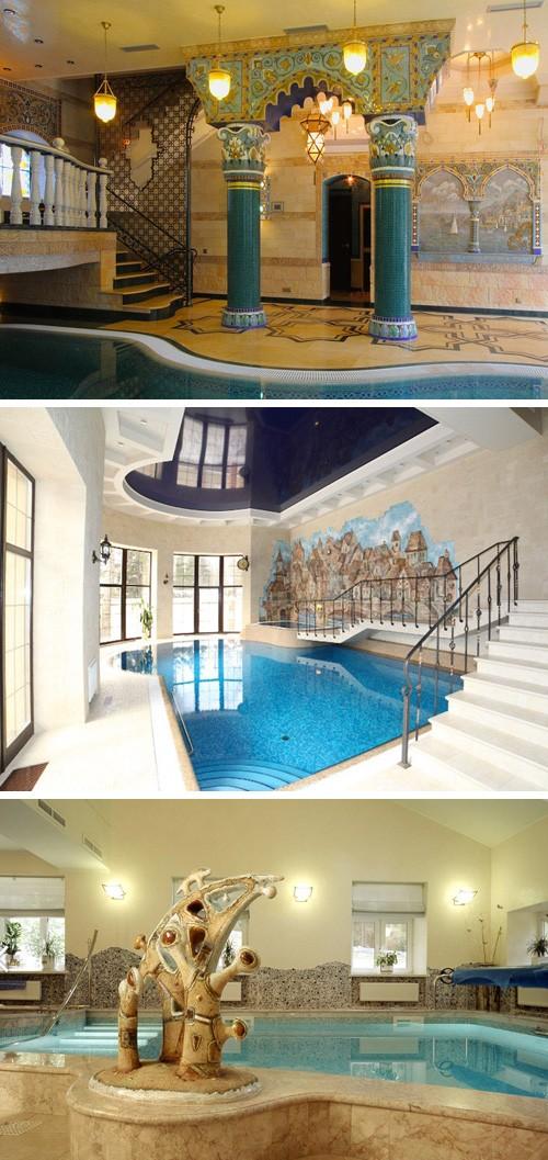 керамический декор встроенных бассейнов
