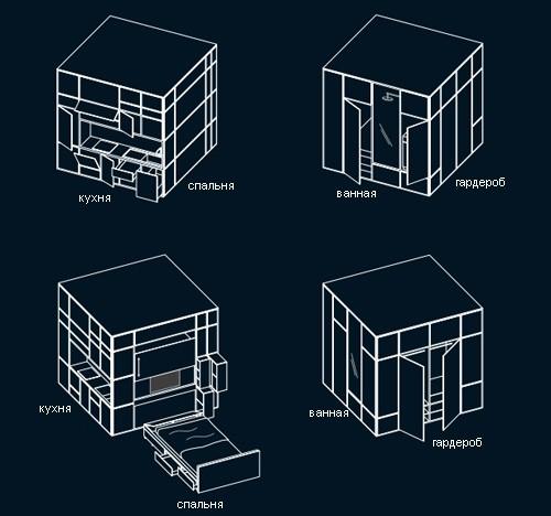 конструкция жилого модуля