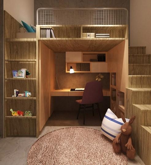 встроенная мебель в детской