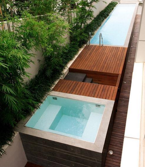 наземный узкий бассейн