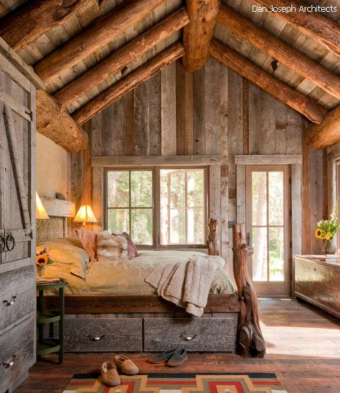 оформление спальни в рустикальном стиле