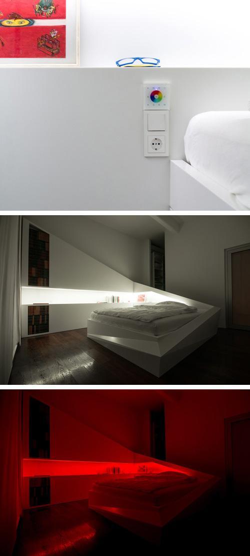 регулируемая светодиодная подсветка кровати