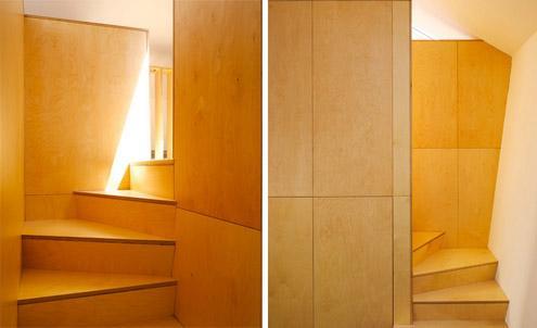 встроенная лестница в спальню