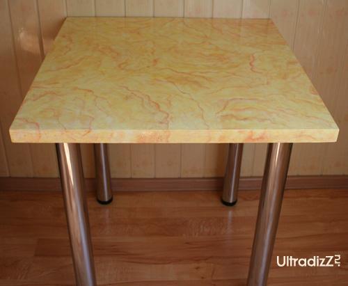 реставрация деревянного стола под камень