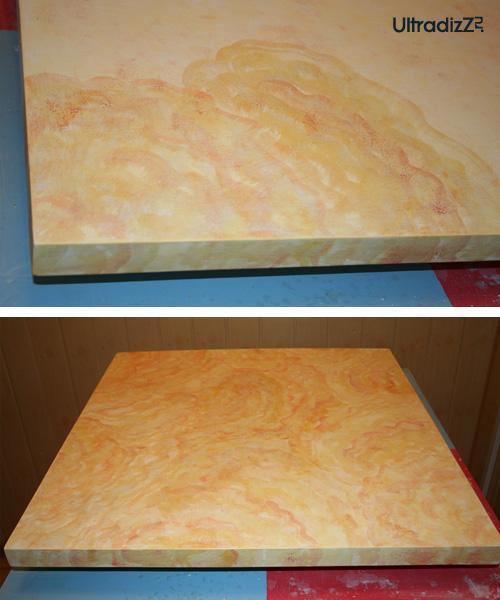 процесс реставрации деревянной столешницы