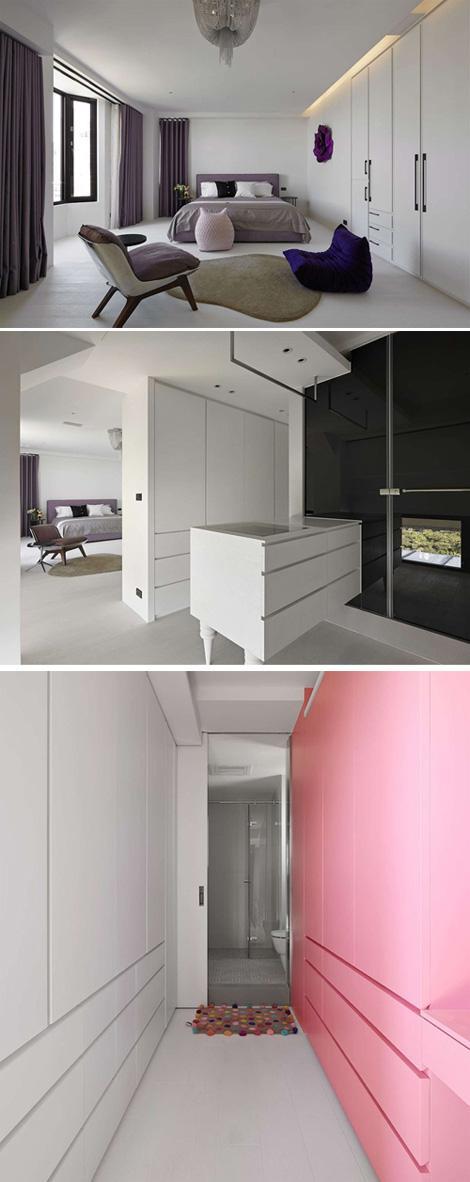 цветная мебель в спальне