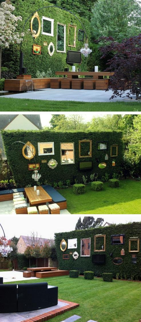 ландшафтный дизайн в виде галереи