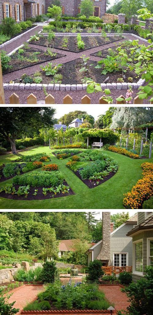 огороды в виде геометрических фигур