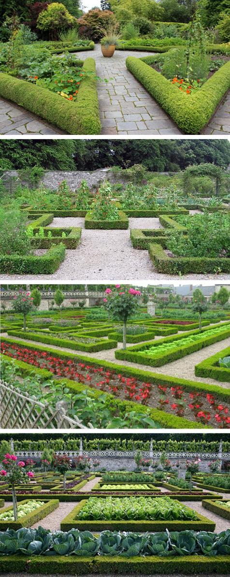 декоративные огороды с ограждением из живой изгороди