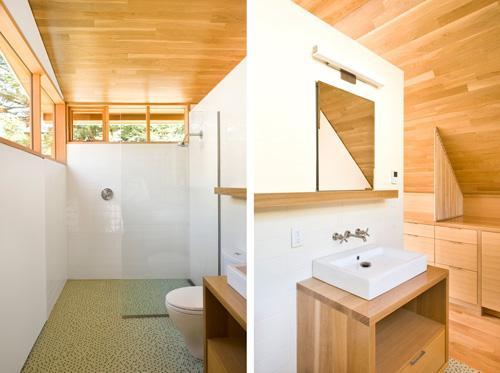ванная в жилом гараже