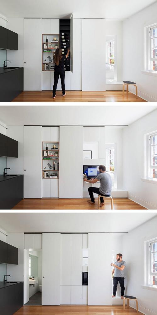 функциональный шкаф перегородка