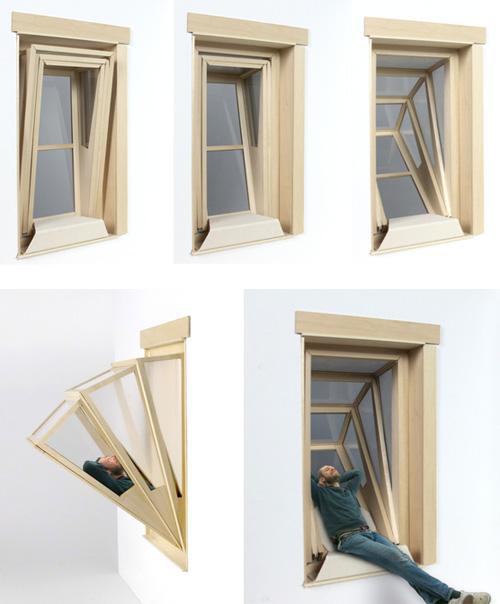 откидывающееся окно ниша с широким обзором