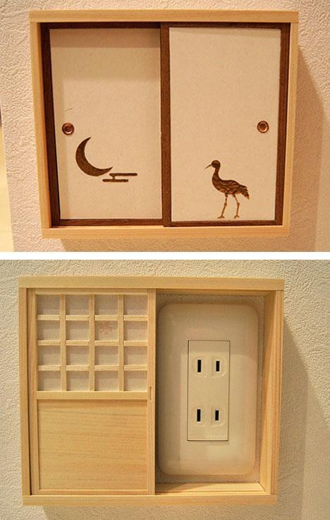 миниатюрные дверки для розеток в восточном стиле
