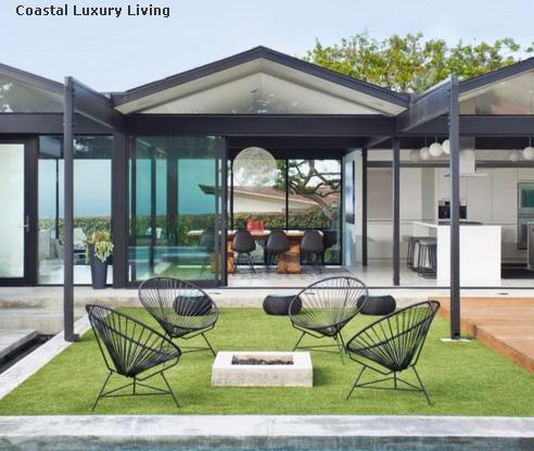 прозрачная металлическая садовая мебель