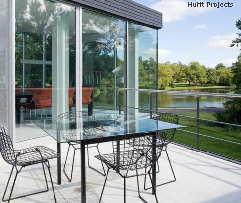 стеклянный садовый стол