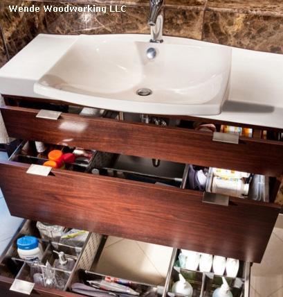 разделители для выдвижных ящиков мебели в ванной
