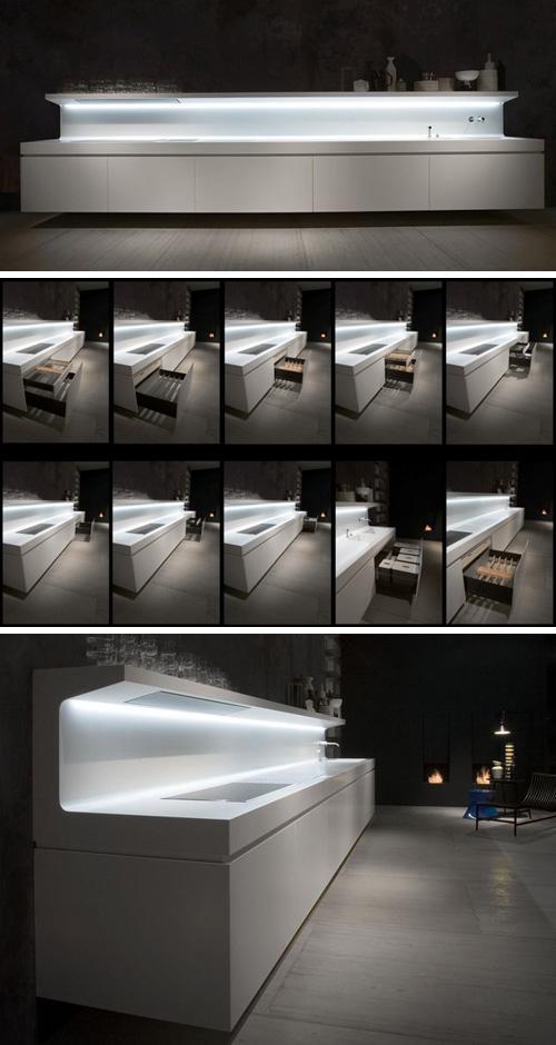 навесные кухонные шкафы под рабочей зоной