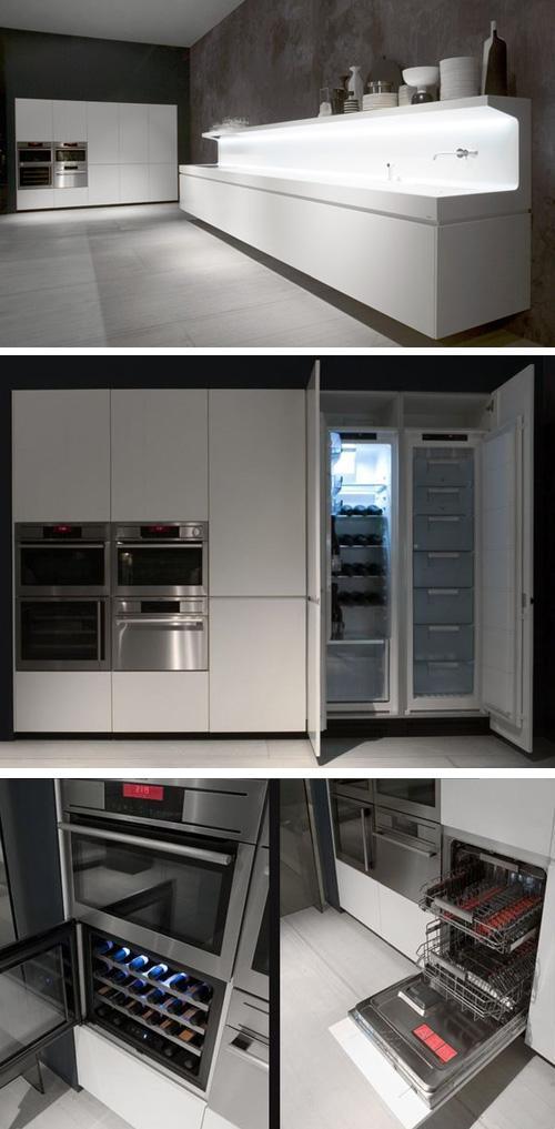 кухонные шкафы со встроенной техникой