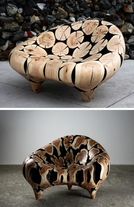 оригинальные деревянные кресла