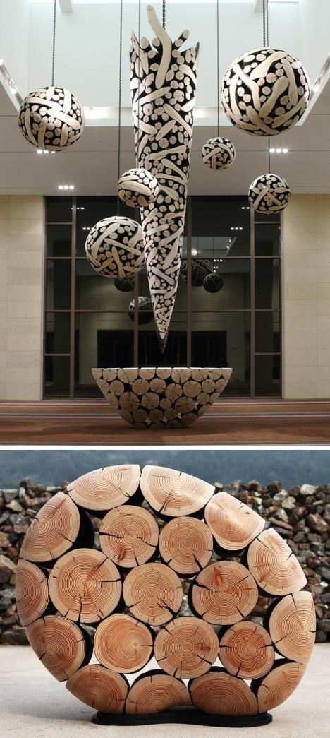 мебель и скульптурный декор из веток