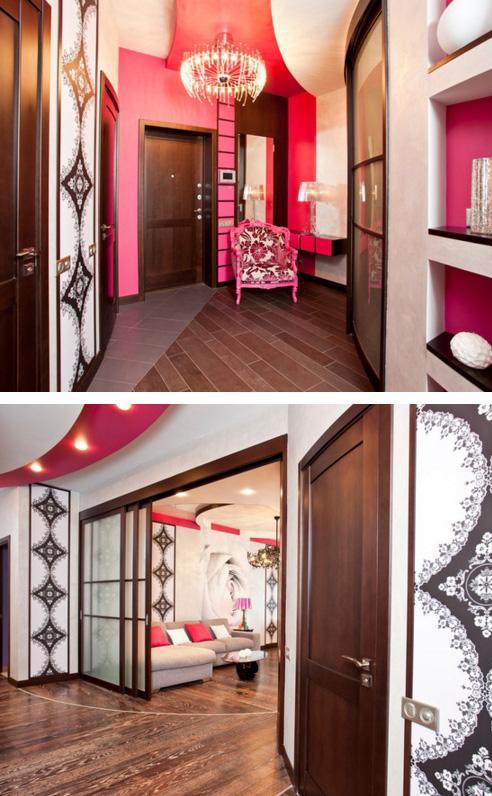 прихожая и коридор с романтическим декором