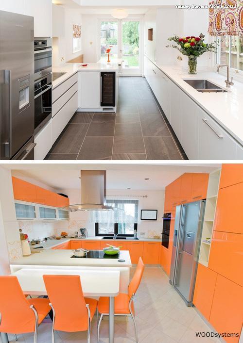 примеры кухонных полуостровов