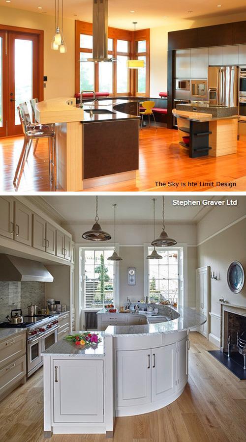 радиусные модели кухонного острова