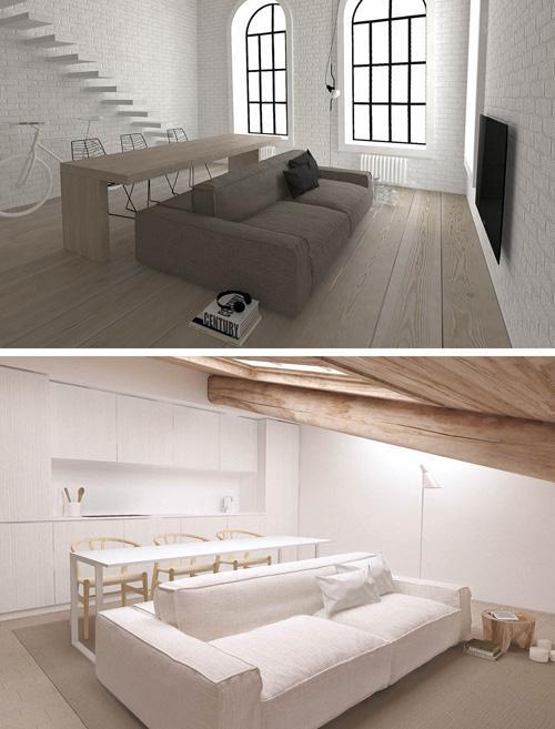 дизайн столов для двустороннего дивана