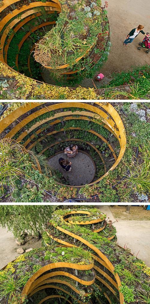 внутренние зоны зеленой скульптуры