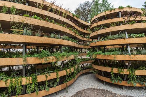 скульптурный сад на семи уровнях